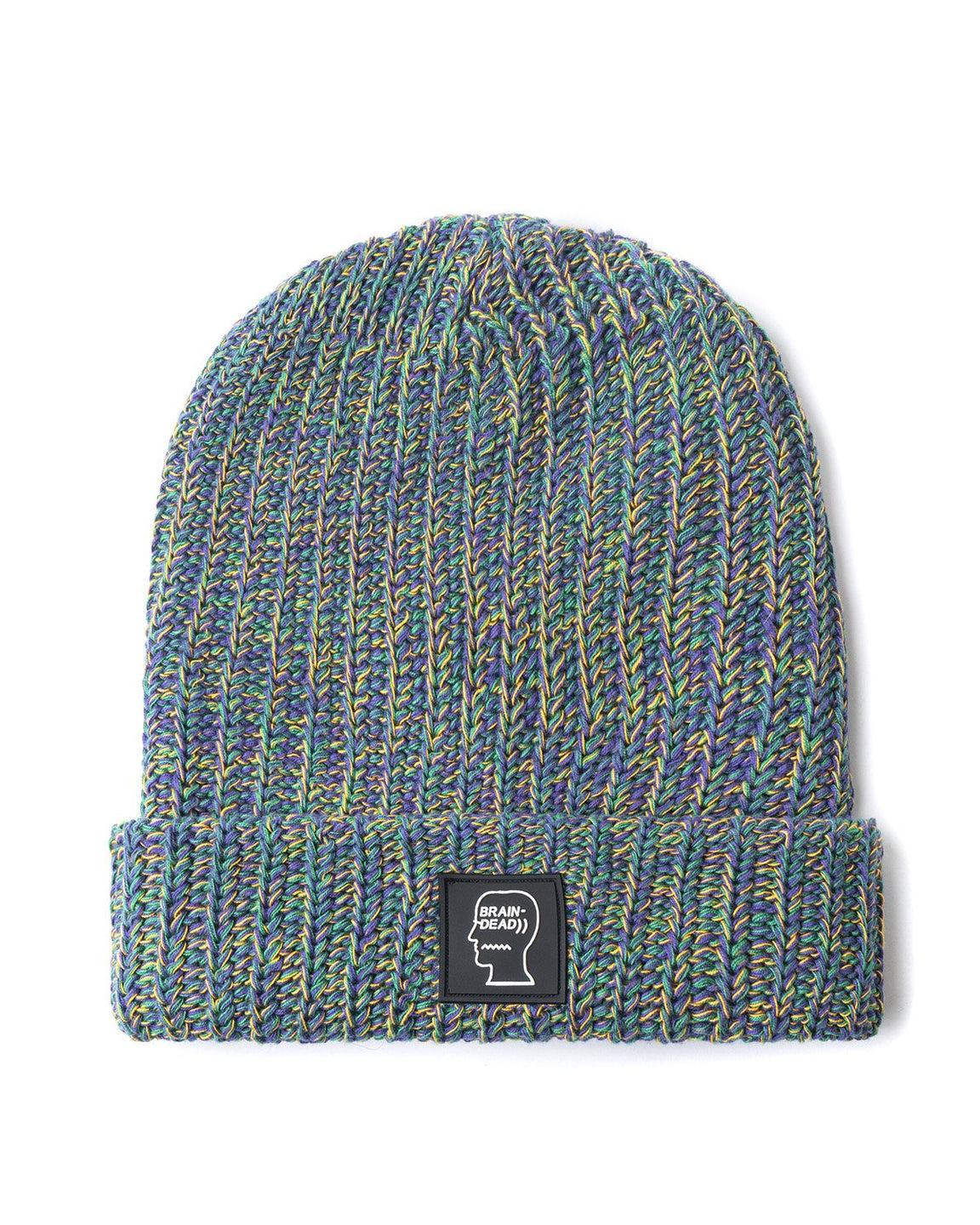 Logo Patch Beanie - Multi Purple/Green/Yellow - Brain Dead