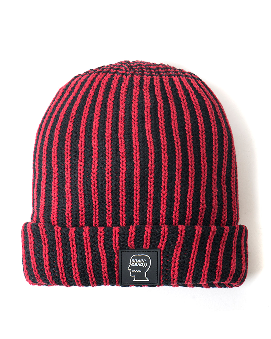 Swan Milan Logo Patch Beanie - Black/Red