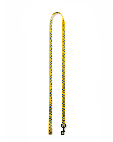 Checkered Dog Leash - Yellow