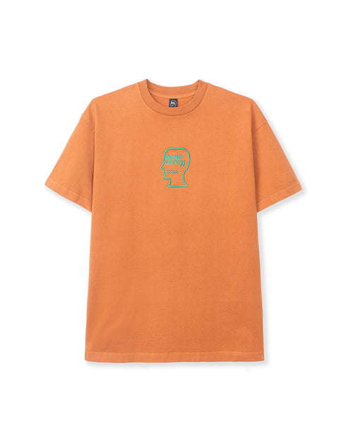 Logo Head Embroidered Heavyweight T-shirt - Orange