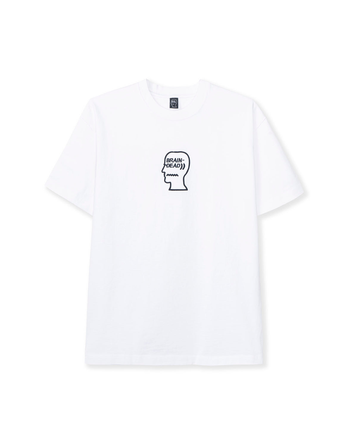 Logo Head Embroidered Heavyweight T-shirt - White