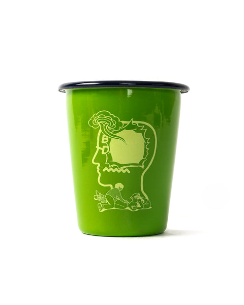 Saturated Voids Enamel Tumbler - Lizard Green