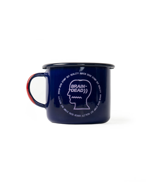 Saturated Voids Enamel Camp Mug - Navy