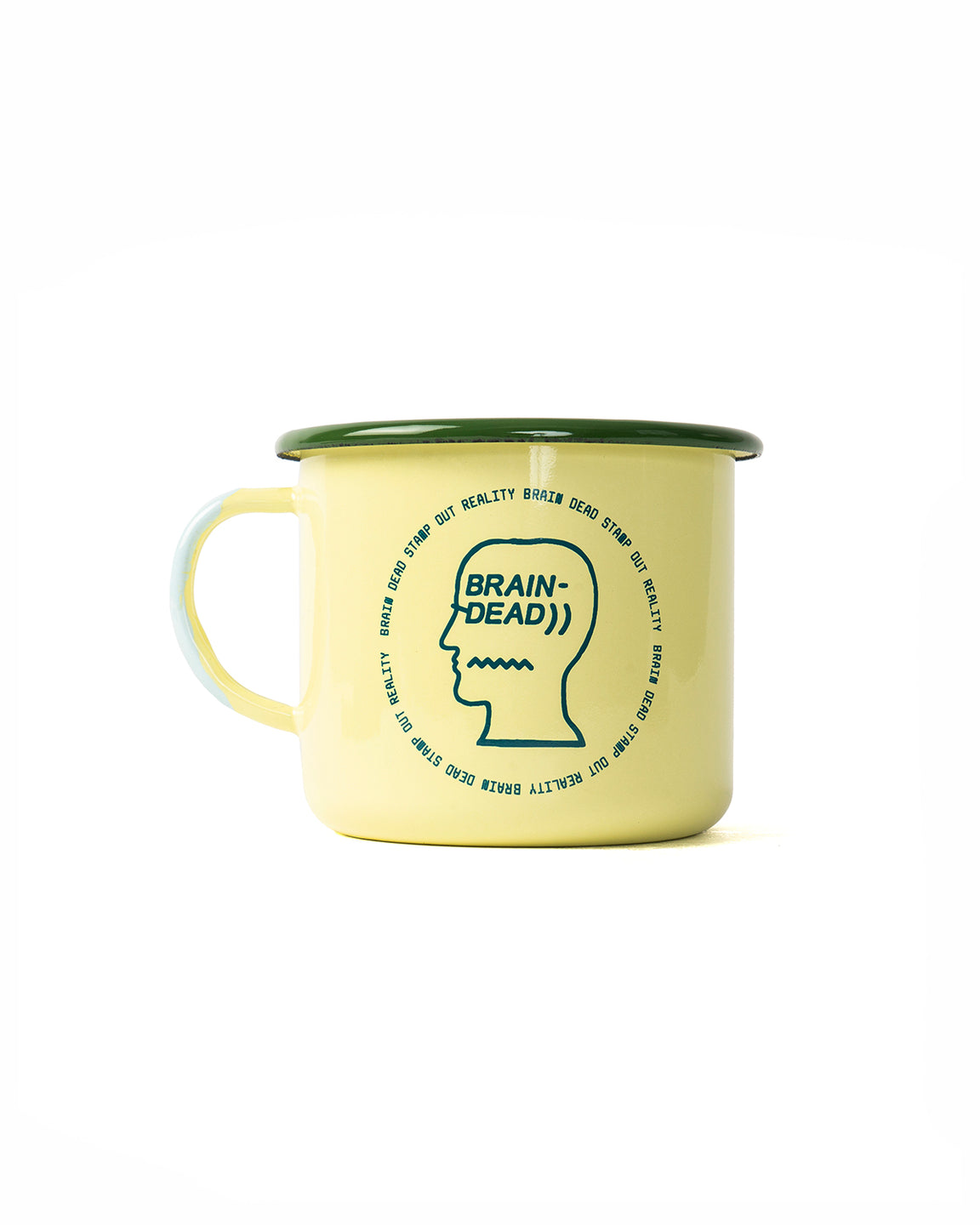 Saturated voids Enamel Camp Mug - Creamy Yellow