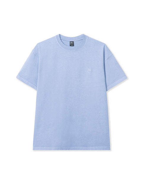 Mini Logo Head Embroidered Heavyweight T-shirt - Blue