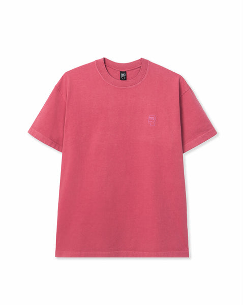 Mini Logo Head Embroidered Heavyweight T-shirt - Rose