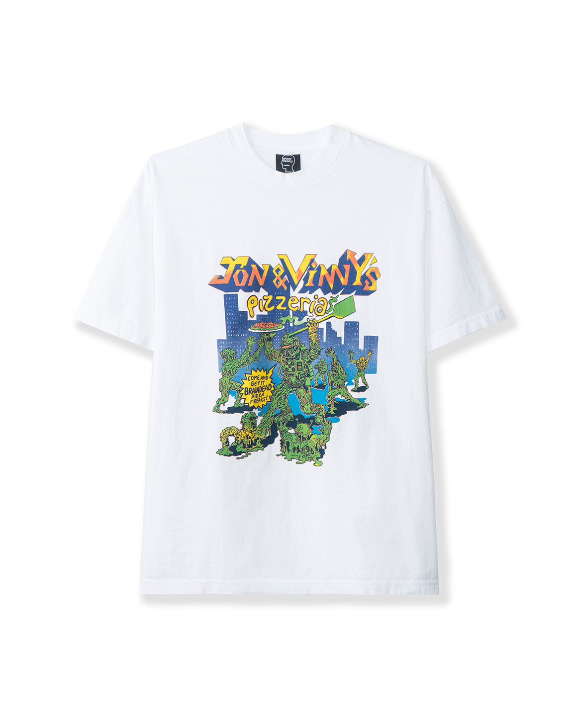 Jon & Vinny's Pizzeria Short Sleeve T-shirt - White