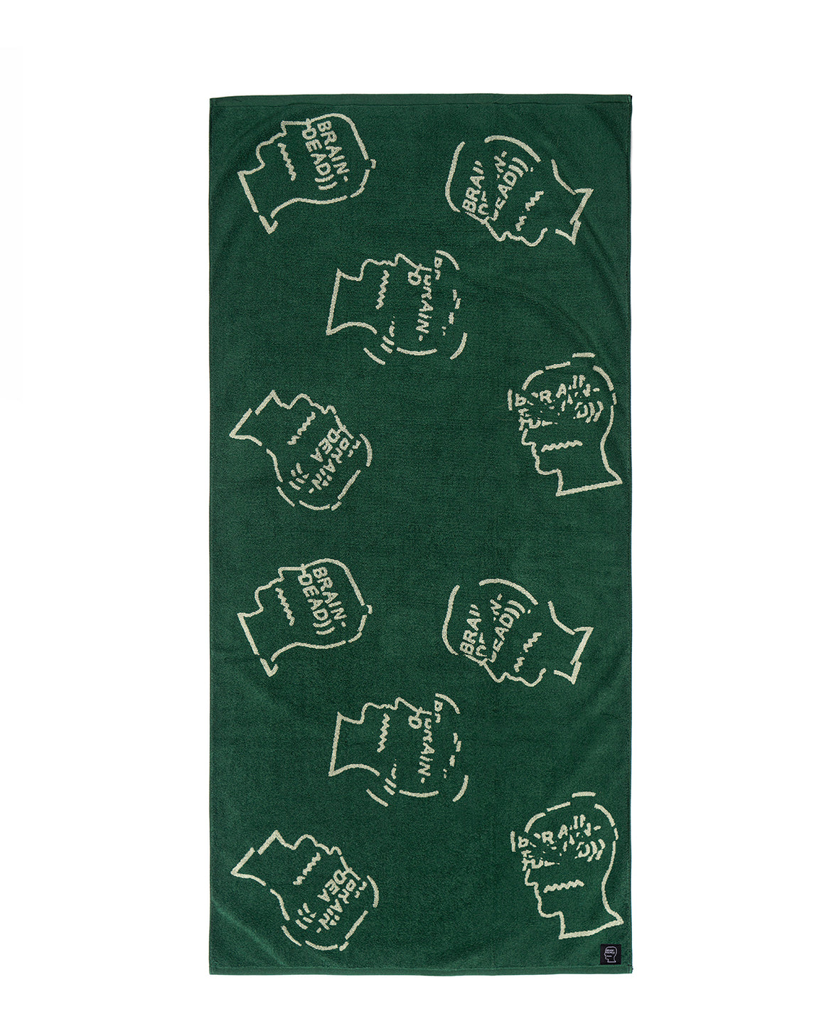 "Cracked Logo Head Bath Towel 30"" X 66""- Forest Green"