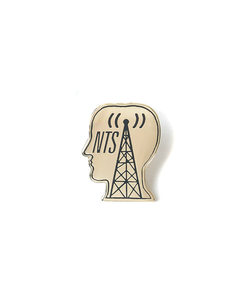 NTS Logo Head Metal Pin - Silver
