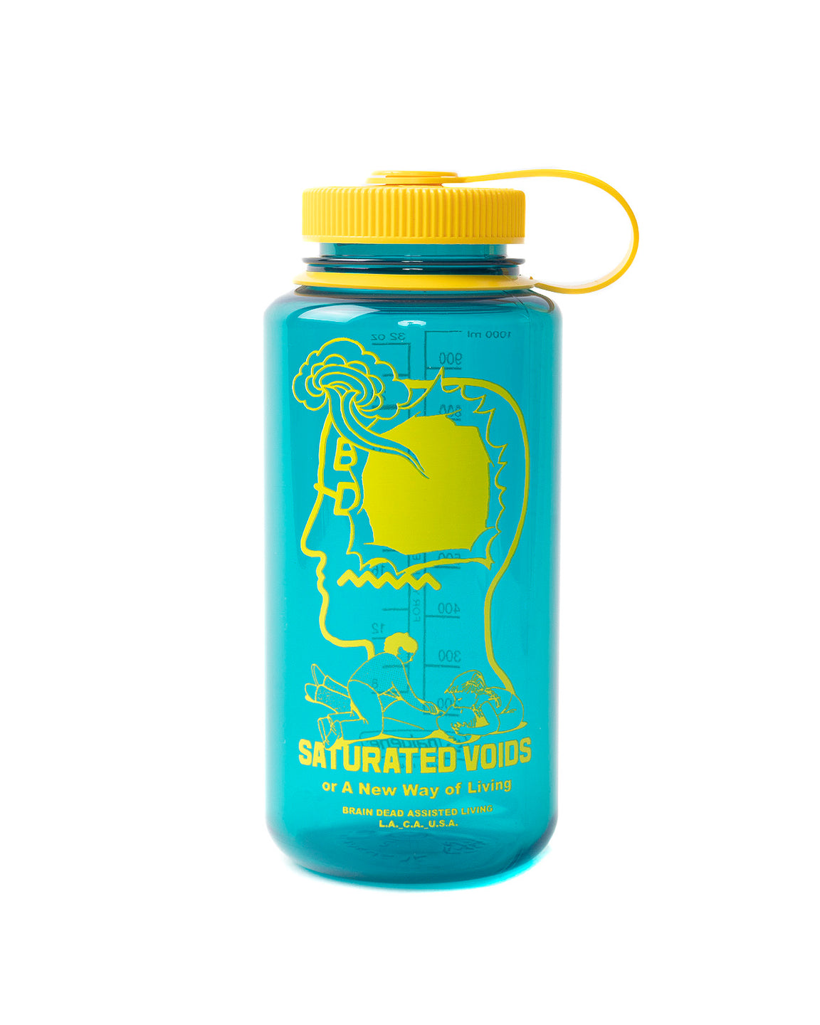 32Oz Saturated Voids Wide Mouth Nalgene Water Bottle - Teal