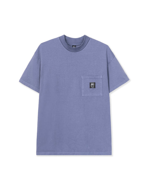 Logo Head PVC Heavyweight Mock Neck T-Shirt - Baby Blue