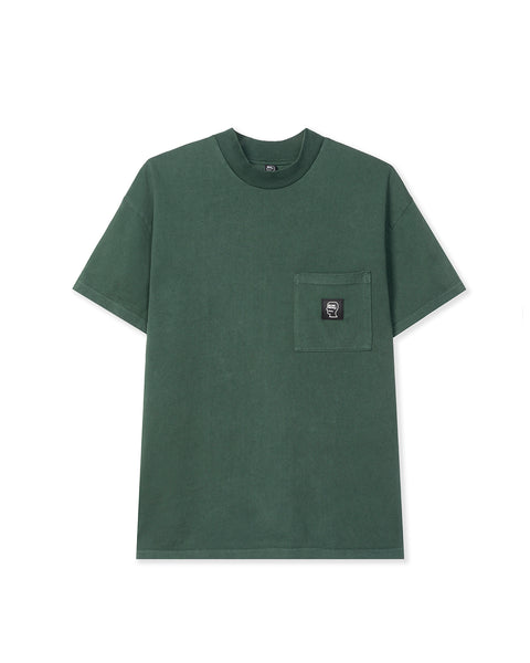 Logo Head PVC Heavyweight Mock Neck T-Shirt - Green