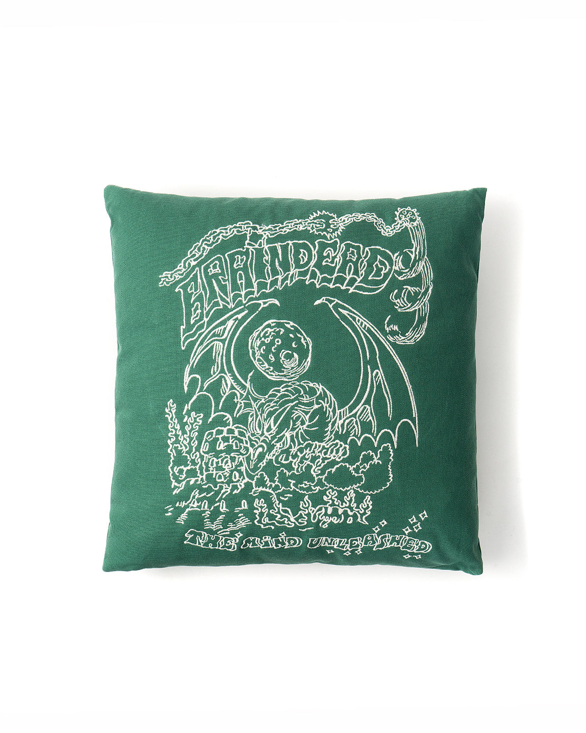 Kogan Unleashed Mind Embroidered Throw Pillow - Green