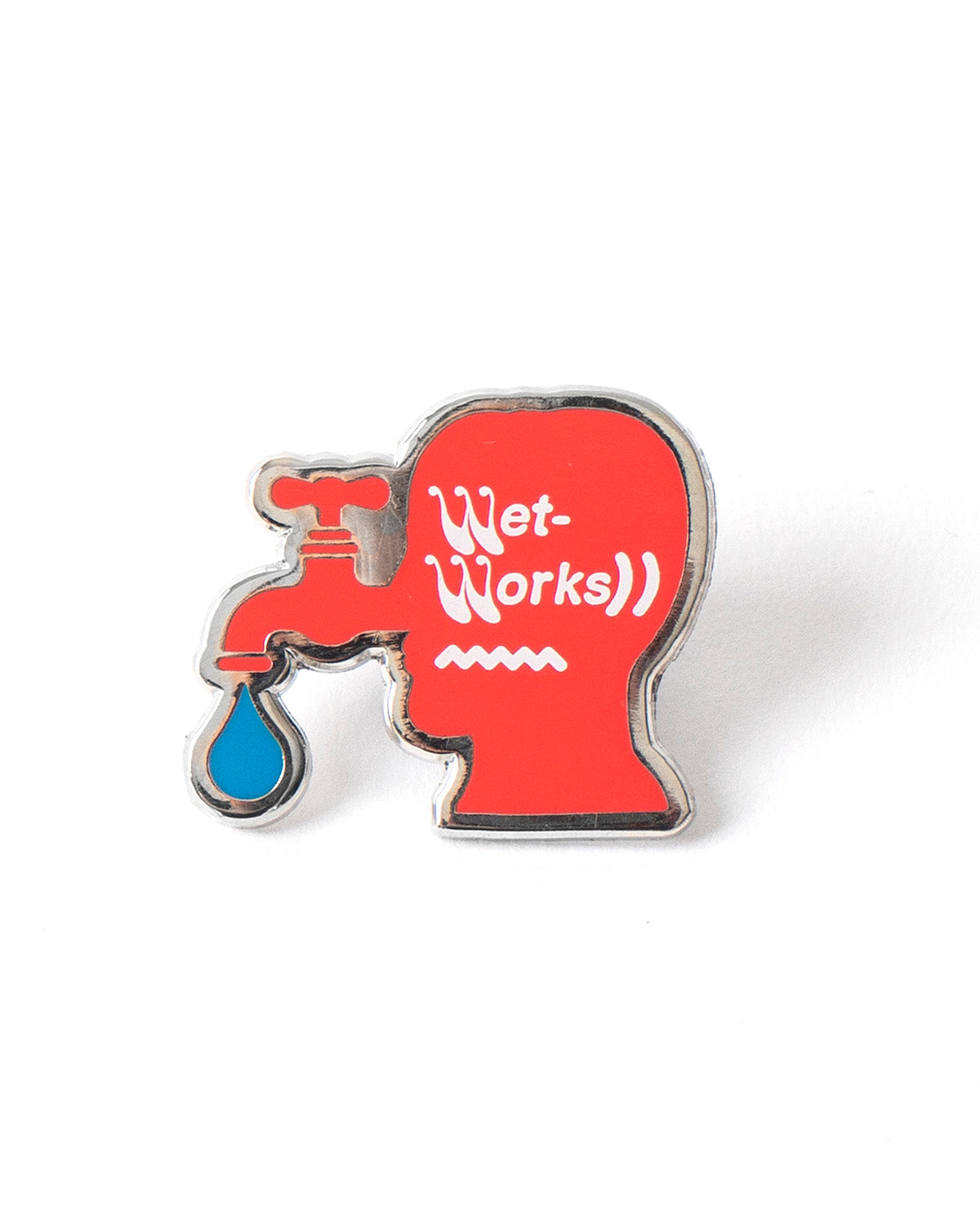 Wet Works Metal Pin - silver