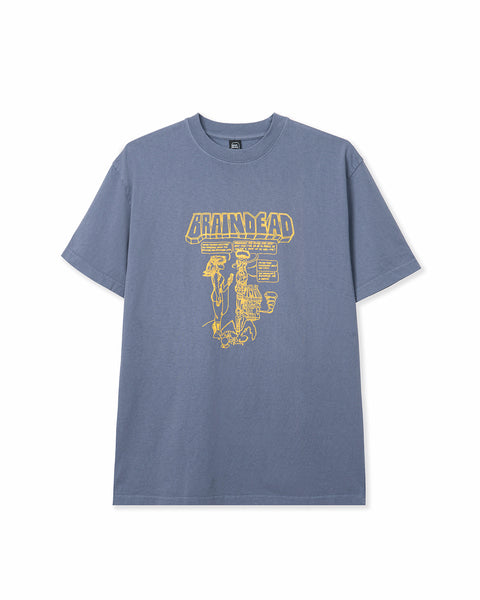 Kogan Menace T-shirt - Washed Blue