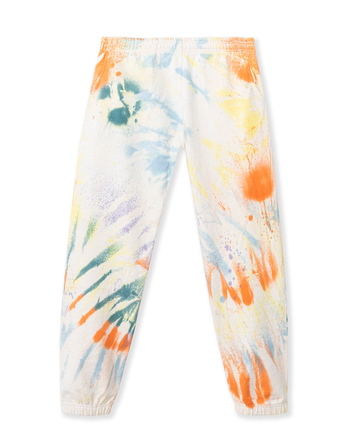Mixed Dyed Multi Splatter Sweatpants - Natural