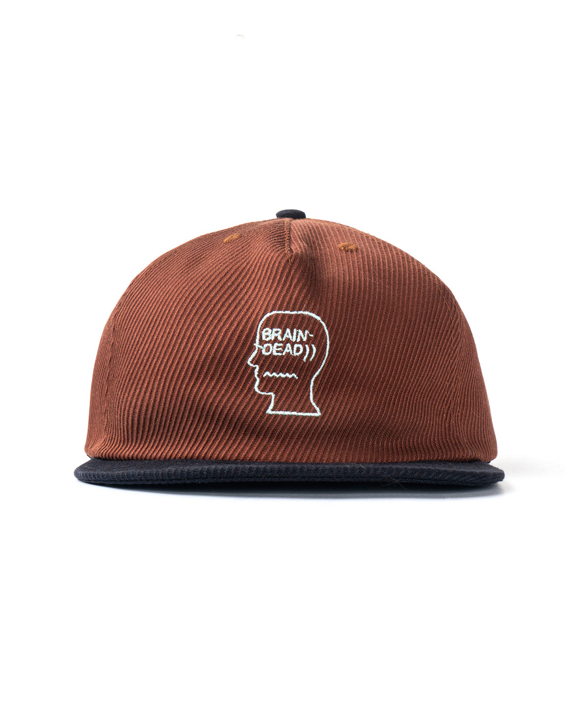 Bias Cut Twill Cord Logo Hat - Terracotta