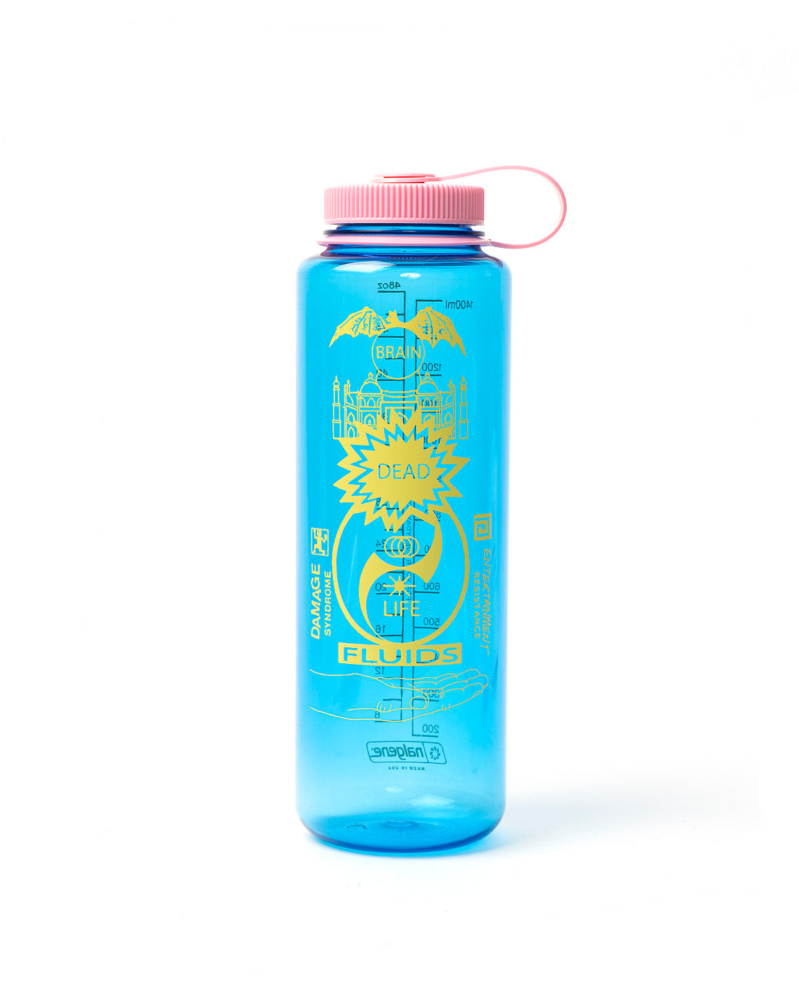 Life Fluids 48Oz Water Bottle - Slate Blue/Pink - Brain Dead