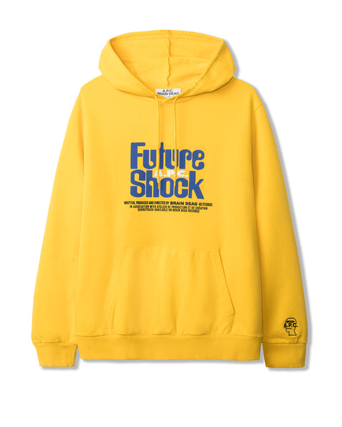 Men's Spacy Long Sleeve Hooded Sweatshirt A.P.C. x Brain Dead - Yellow