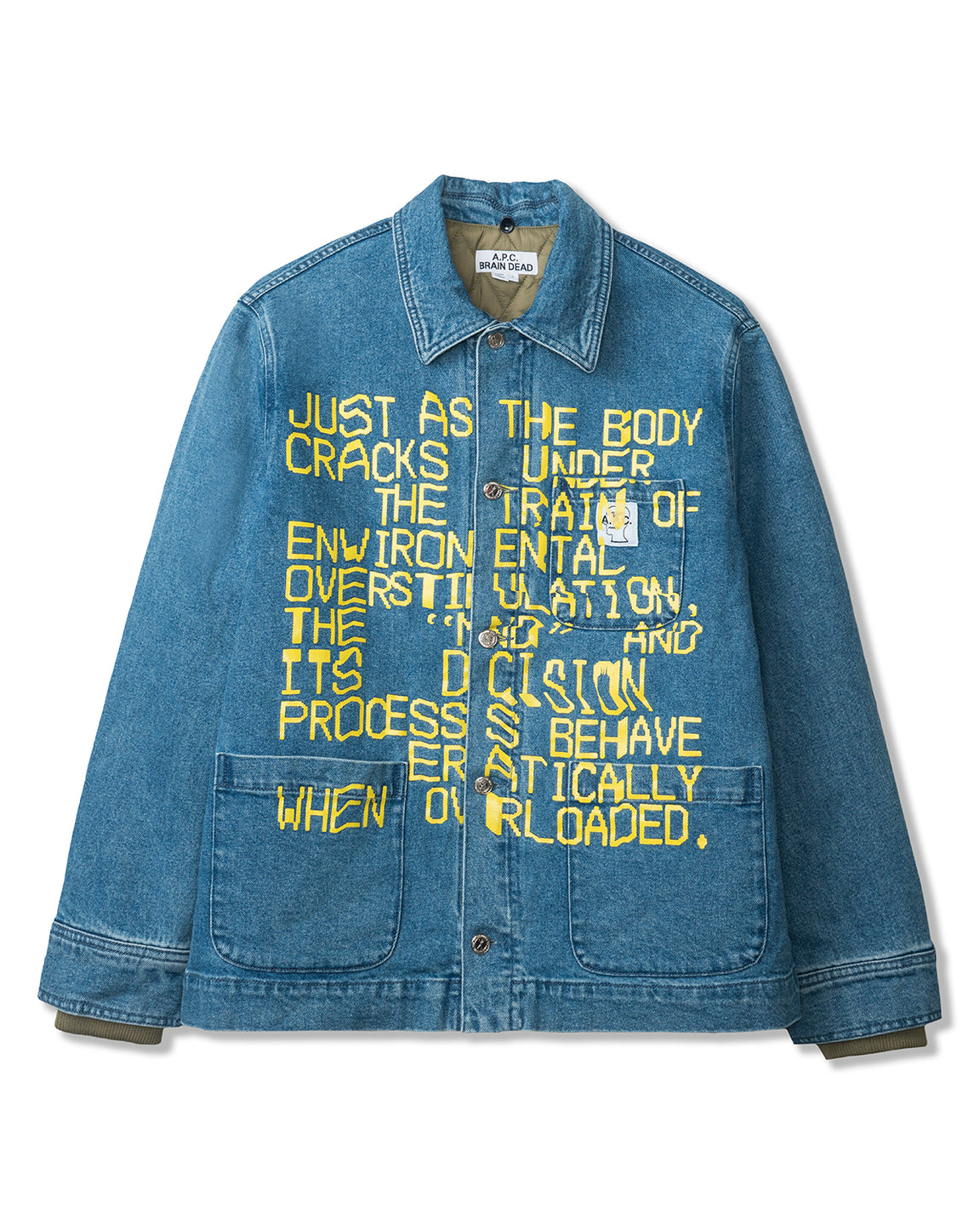 Men's Imhotep Japanese Denim Chore Jacket A.P.C. x Brain Dead