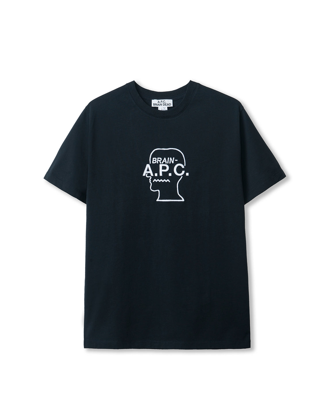 Men's Spooky Short Sleeve Jersey T-Shirt A.P.C. x Brain Dead - Navy