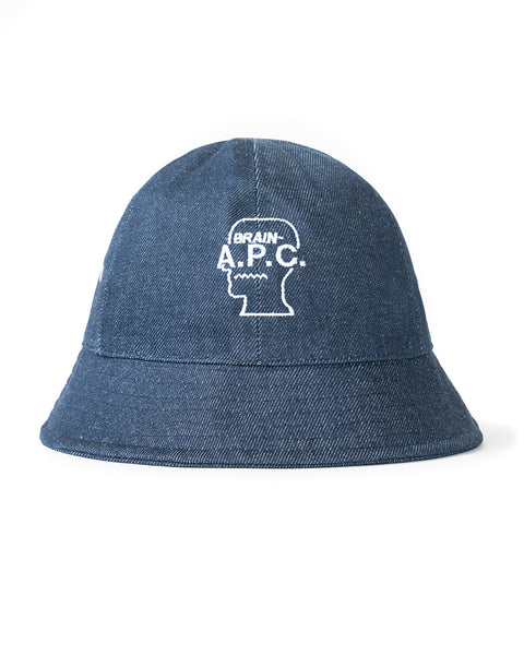 Bob Japanese Denim Bucket Hat A.P.C. x Brain Dead
