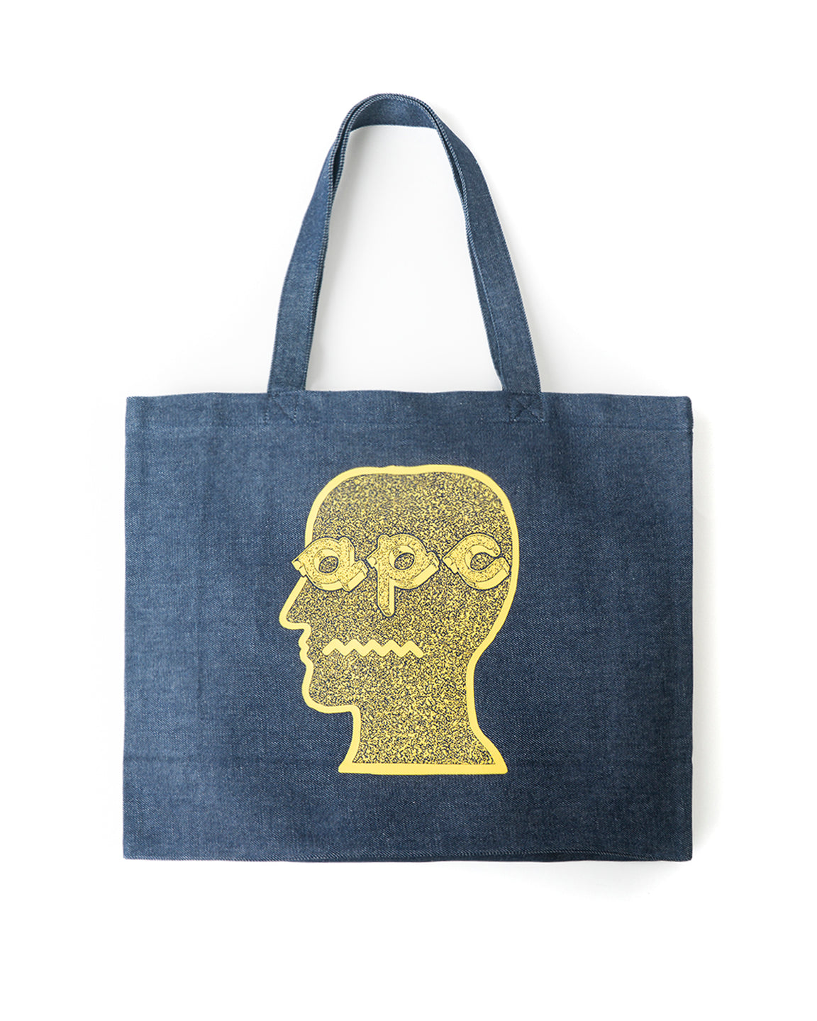 Logo Head Shopping Bag A.P.C. x Brain Dead - Denim/Yellow