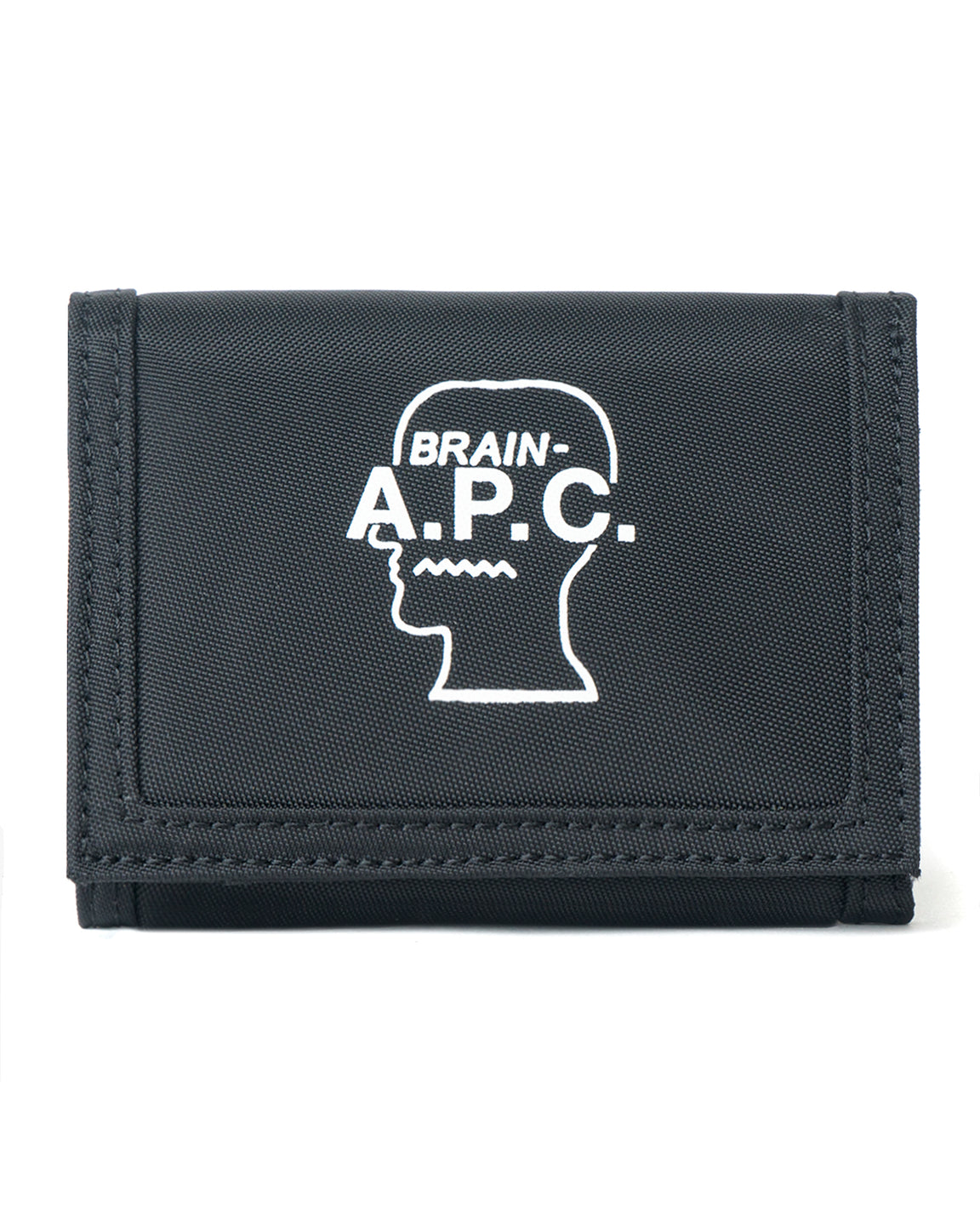 Technical Canvas Trifold Wallet A.P.C. x Brain Dead - Black