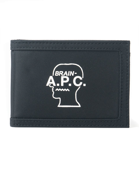 Technical Canvas Bifold Wallet A.P.C. x Brain Dead - Black