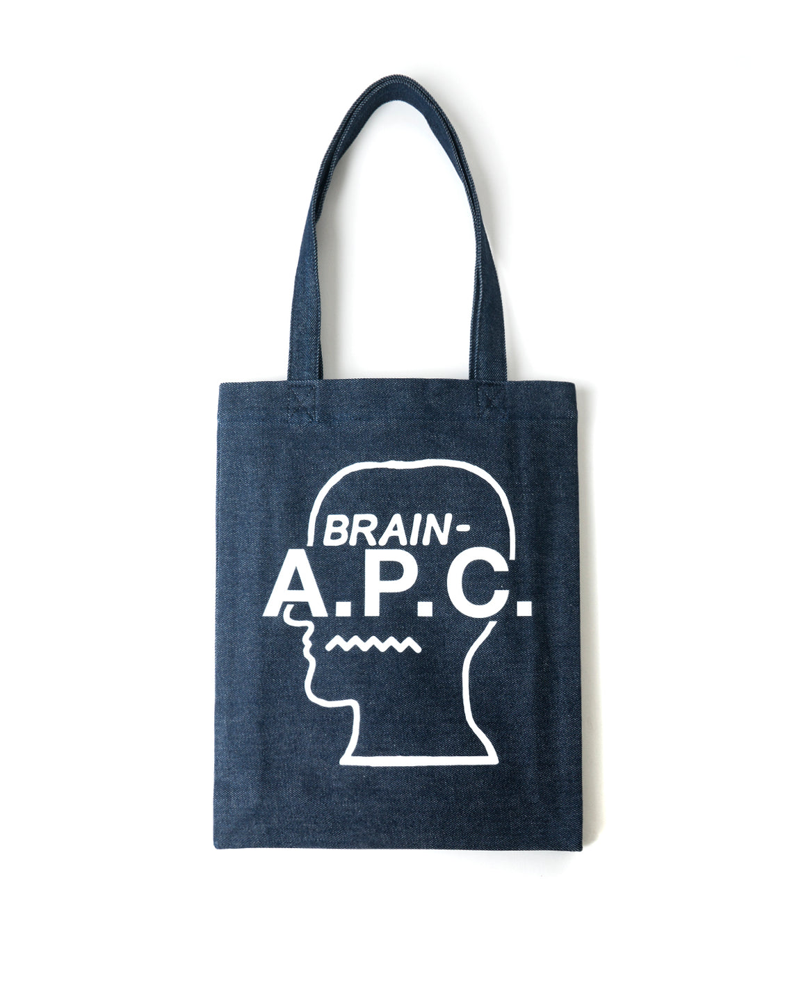Logo Head Tote Bag A.P.C. x Brain Dead - Denim/White