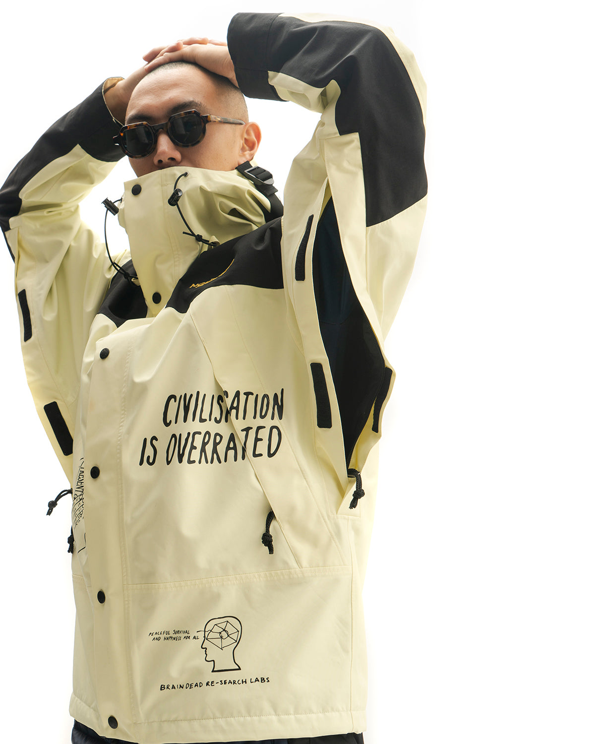 Brain Dead x The North Face Mountain Jacket Tender Yellow