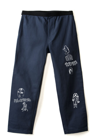 Matt Locke Carpenter Pant - Navy Canvas