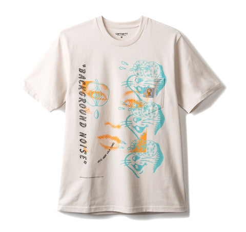 Brain Dead x Carhartt Noise Short Sleeve Pocket Tee - Beige