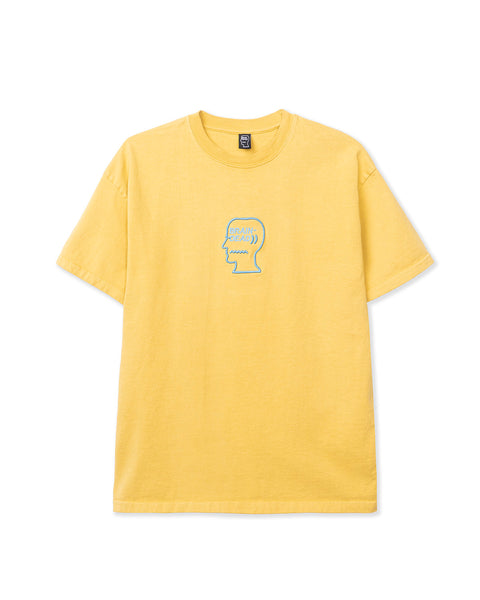 Logo Head Embroidered Heavyweight T-shirt - Yellow