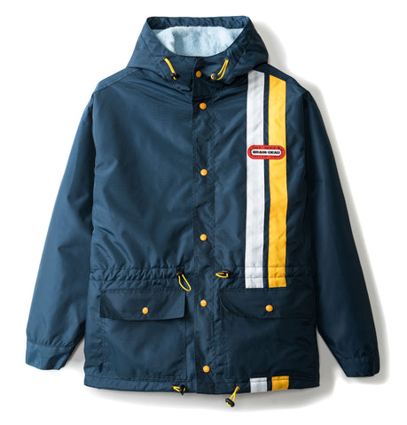 Hooded Racing Jacket - Navy