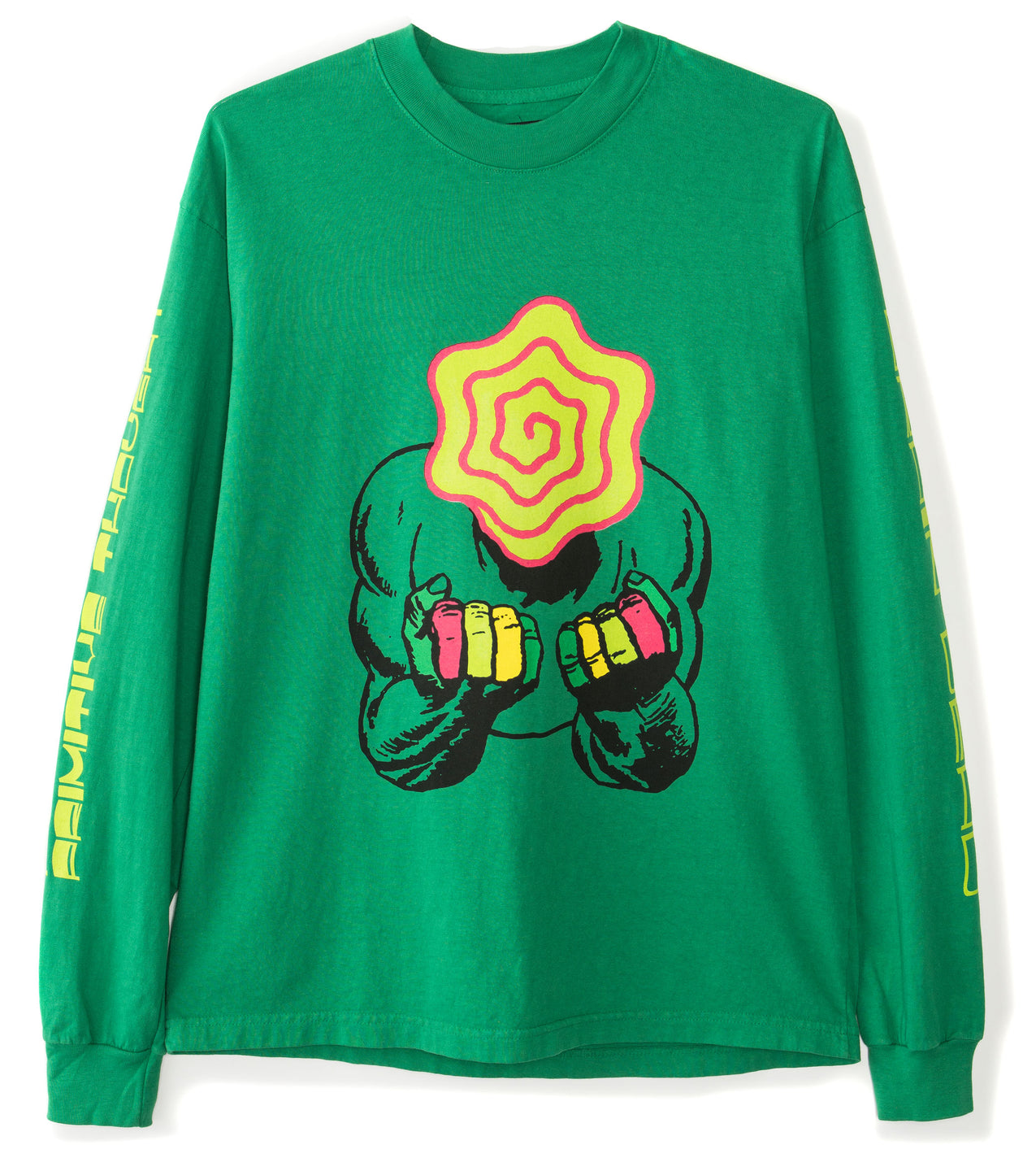 Industrial Mock Neck Longsleeve - Kelly Green