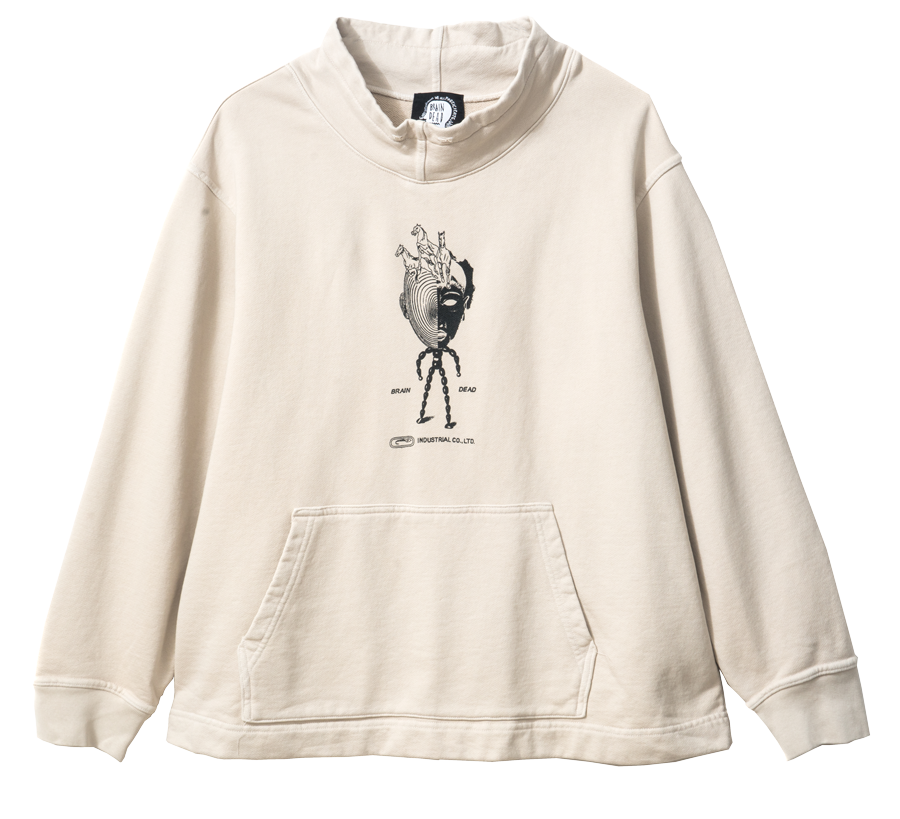 BD INDUSTRIES MOCK NECK SWEATSHIRT CEMENT