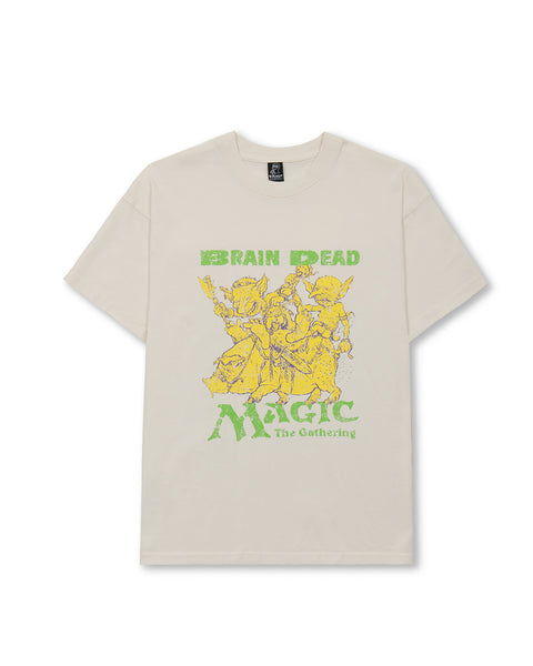 Brain Dead x Magic: the Gathering Deadly Encounters Short Sleeve T-Shirt - Natural
