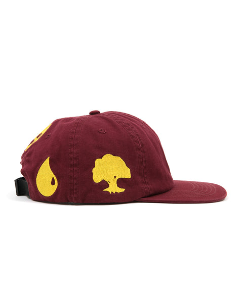 Brain Dead x Magic: The Gathering Embroidered 6 Panel Cap - Burgundy