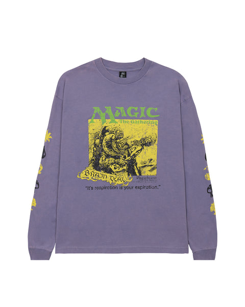 Brain Dead x Magic: The Gathering Plaguebearer Long Sleeve T-Shirt - Purple