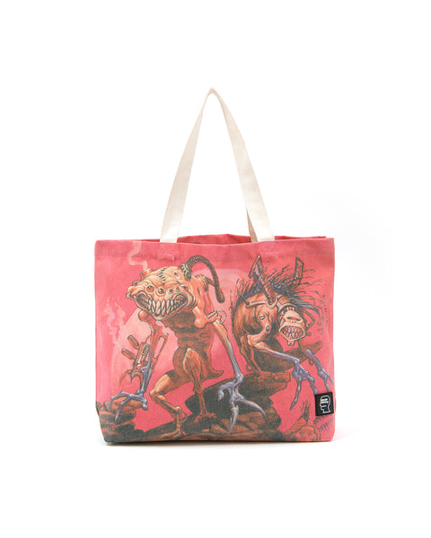 Brain Dead x Magic: The Gathering Twins Nylon Tote - Coral