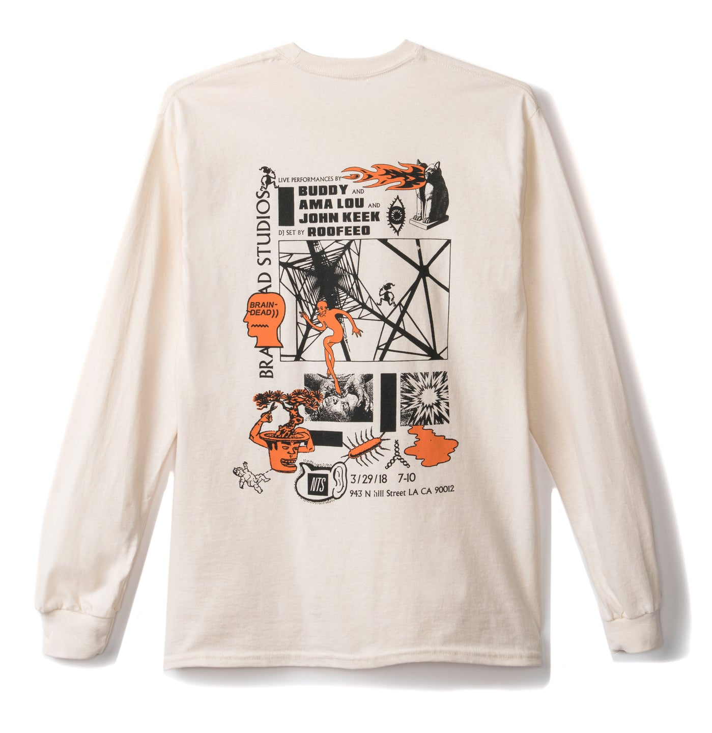 NTS X Brain Dead March Lineup Shirt - Natural