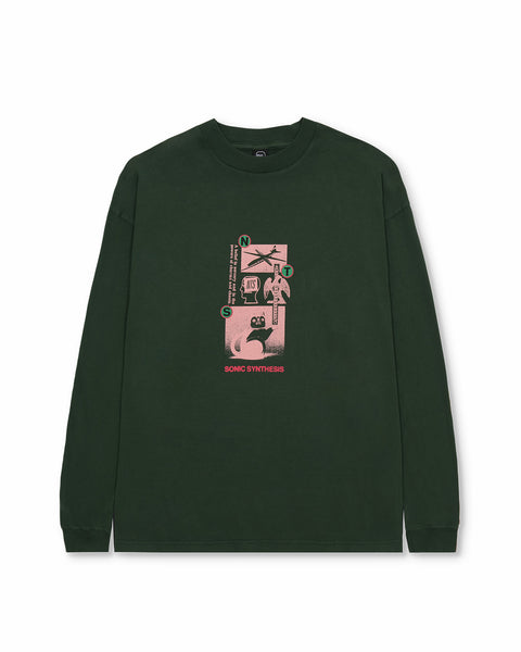 Brain Dead x NTS Synthesis LS Tee - Green
