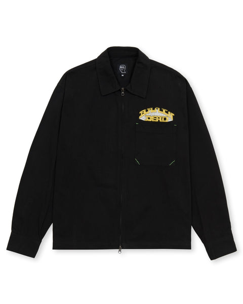 Fast Life Full Zip Shirt Jacket - Black
