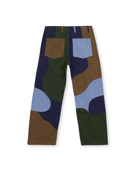 Patchwork Military Pant - Navy