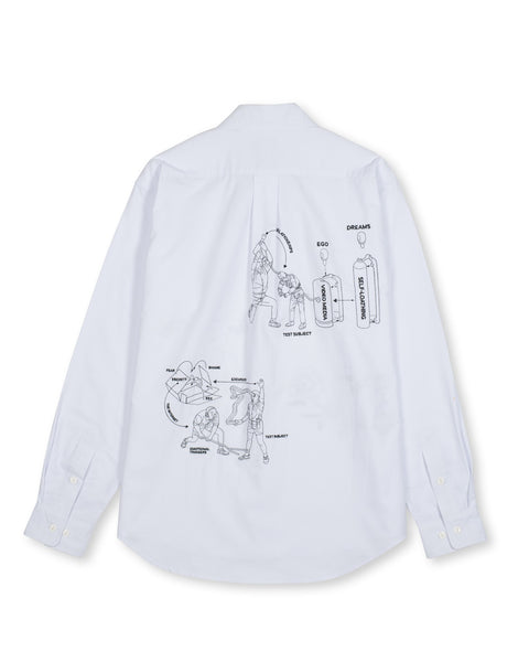 Tutorials Poplin Button Up Shirt - White