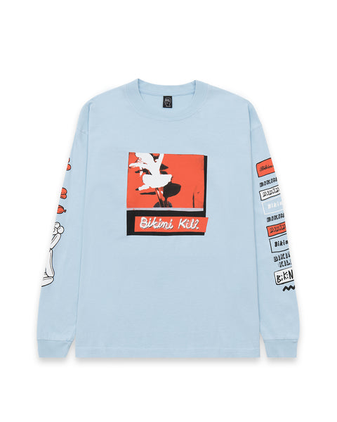 Brain Dead x Bikini Kill Peace Sisters Long Sleeve T-Shirt - Sky Blue