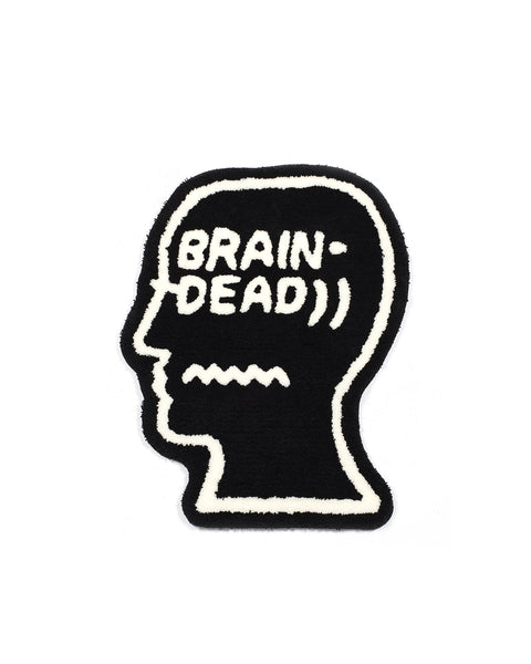 Brain Dead Logo Head Rug - Black