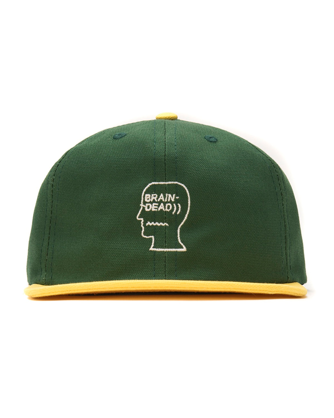 Logo Head Canvas Six Panel Hat - Green
