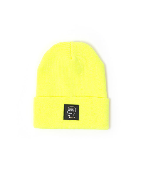 Logo Head Beanie - Safety Yellow